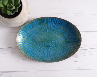 Vintage Annemarie Davidson Enameled Plate