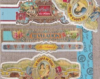2016 Cigar Band Collage Coaster: Baby Blue Revelation