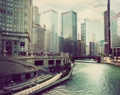 Chicago River - Chicago photograph, Illinois photo, architecture, Chicago print, wall art, picture of Chicago