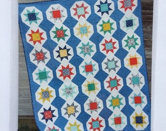 STARSTRUCK quilt pattern by Cluck Cluck Sew - fat quarter friendly, FQ friendly - 5 sizes included