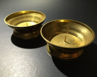 Vintage 2 Brass Candle Holders