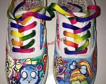 Zombie girl sneakers