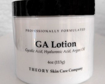 Glycolic Acid Lotion with Hyaluronic Acid and Argan Oil Skin Softening Lotion, Professionally Formulated