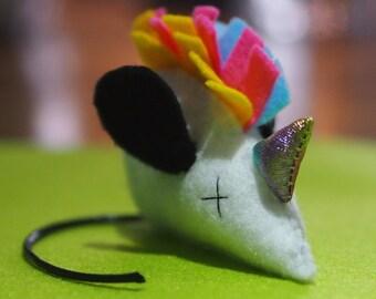 One Handmade Catnip Mouse Toy Unicorn-mousie