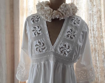 French Antique, Gown, French Vintage,  France , Antique Clothes, French Embroidery, Wedding Dress, Bridal , Vintage Wedding, Trousseau Bride
