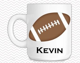 Football Mug - Personalized Football Mug - Customized Mug - Melamine Cup - Personalized Kids cup