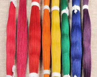 1 oz  Dyed HORSE HAIR BUNDLE Crafts Pow Wow  Regalia Leathercraft  Rainbow Choice of Colors