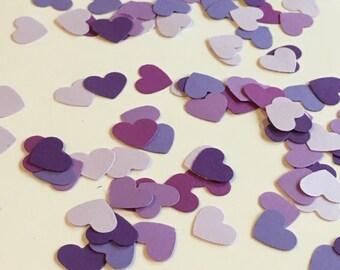 Ombre Purple Heart Confetti