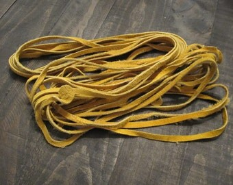 Gold Suede Lacing ~ 1/4 inch wide