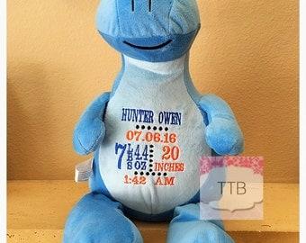Blue Personalized Stuffed dinosaur