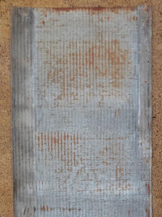 Salvaged Rusty Barn Tin Roofing Micro Corrugated Steel