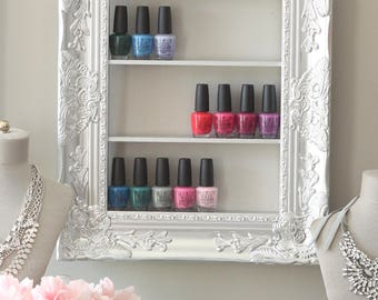 Silver Nail Polish Frame | Decorative Nail Polish Frame Rack | Essential  Oils Display Storage |