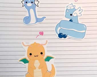 Dratini/Dragonair/Dragonite Stickers and Magnets