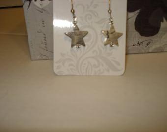 stone star earrings
