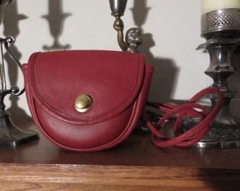 Vintage Coach  Red Leather Belt Bag, Excellent Condition,  9826
