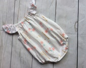ON SALE Baby Girl Romper Sunsuit Ready to Post Seaside Romper size 000 Outfit Girls Playsuit Bubble Romper Baby Clothes Jumpsuit