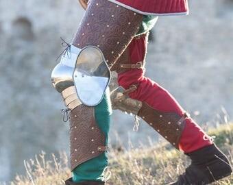 """DISCOUNT! Leg Armor """"Bird of Prey"""" sca; men's armour"""