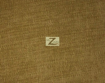 """Solid Corduroy Fabric - KHAKI - 60"""" Width Sold By The Yard"""