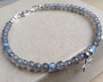 Labradorite Bracelet, Gemstone Bracelet, Labordorite Gemstone Bracelet