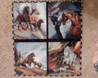 Horses,Horses, and more Horses Quilted Wall hanging
