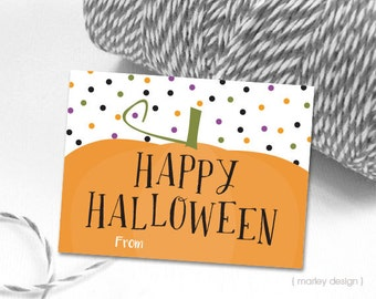 Halloween Tags Fill In Halloween Favor Tags Pumpkin Tags Digital Tags Instant Download Halloween Printable Tags Kids Halloween Tags Pumpkin