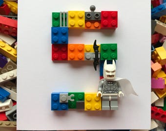Lego Superhero Birthday Card with 'Special' Mini figure 16th 18th 20th 30th 40th Personalised Bespoke Customise Boy, Girl,