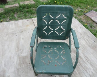 Mid-Century Metal Armchair/Strong Form