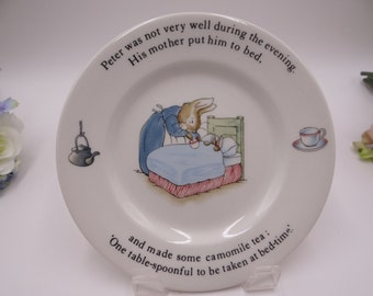 Wedgwood Beatrix Potter Peter Rabbit Bread and Butter Plate or Tea Plate - Made In England - 2 Available