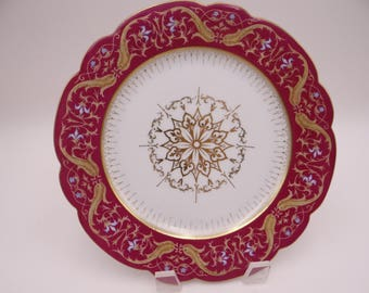 1882 to 1889 Vintage Bruder Schwalb Czech Fish Plate