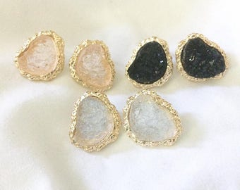 Druzy Stud Earrings (3 Colors)