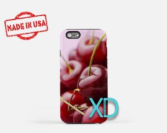 Cherry iPhone Case, Fruit iPhone Case, Cherry iPhone 8 Case, iPhone 6s Case, iPhone 7 Case, Phone Case, iPhone X Case, SE Case Protective
