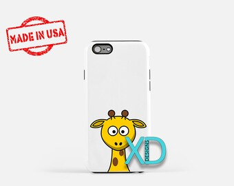 Cartoon Giraffe iPhone Case, Animal iPhone Case, Giraffe iPhone 8 Case, iPhone 6s Case, iPhone 7 Case, Phone Case, iPhone X Case, SE Case