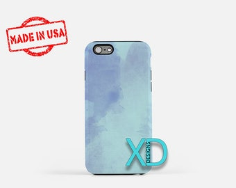 Blue Watercolor Phone Case, Blue Watercolor iPhone Case, Artwork iPhone 7 Case, Blue, Artwork iPhone 8 Case, Blue Tough Case, Clear Case