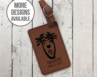 Personalized Luggage Tag, Custom Laser Engraved Luggage Tag, Travel Accessory, Luggage Identification, Wedding Gift, Fiji Honeymoon