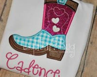 Personalized Valentine's Day shirt / Love Cowgirl Boot