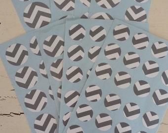 Clearance!! 94 Ready to Ship Sticker Sale Chevron Circle Stickers Envelope Seals, Party Favors, Party Glasses, Unlimited Possiblities