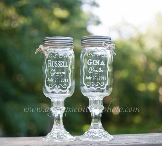 Set of 4 custom design redneck glasses Big Wood Lake