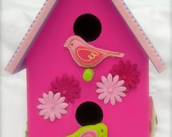 Colorful Bird House for Girls' Room