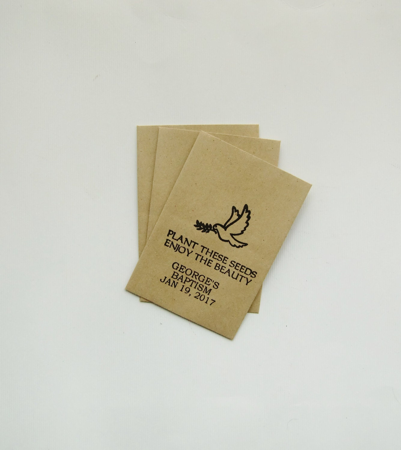 baptism favors seed packets christening favors religious