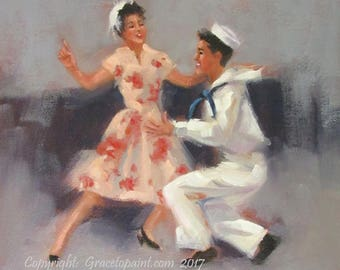 Jive I...Original Oil Painting by Maresa Lilley, SND