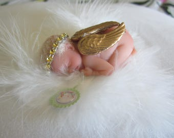 Polymer Clay OOAK Miniature Angel Baby