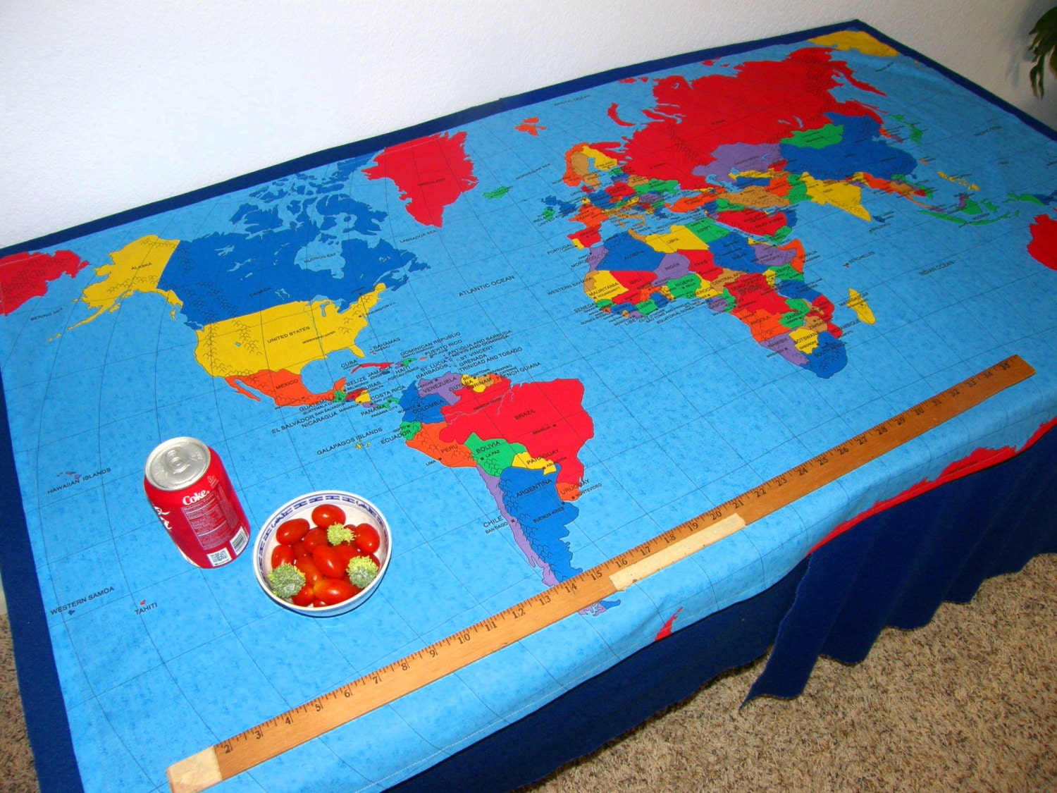 Fabric cloth of a world map make a wall hanging table cloth 1800 gumiabroncs Choice Image
