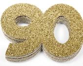 90th Birthday Confetti, 90th Anniversary Confetti, Ninetieth Birthday Party Decor, 90th Birthday Decor, 90th Birthday Favor, 90th Milestone