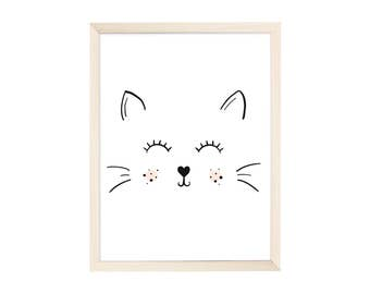 Art Print Happy Cat