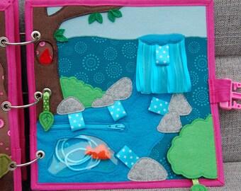 Elfjesboek Quiet book 1 pagina Waterval PATTERN & TUTORIAL