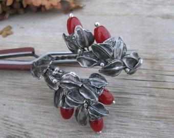 Adjustable   bracelet with carnelian