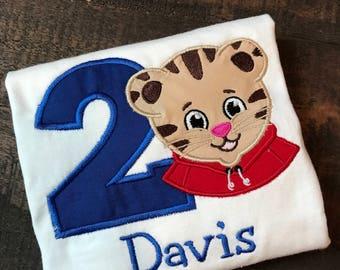 Tiger Boys Birthday Shirt