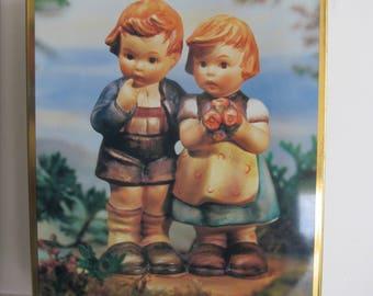 Hummel Figurine Tin Box Hummel Girl and Hummel Boy Goebel Hummel Figurines Hummel Tin Box Collectible Tins English Germany Figurines Hummels