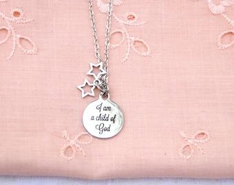 I Am A Child Of God Necklace / women's Jewelry / men's jewelry / teen jewelry / Girls jewelry / Boys Jewelry / men / women / jewelry