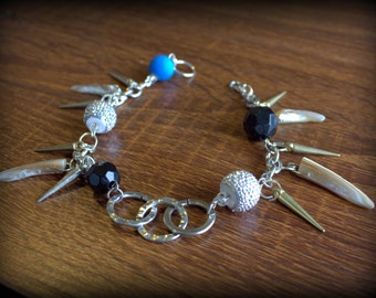 Disco Steampunk One of a kind Anklet. Ready to wear!